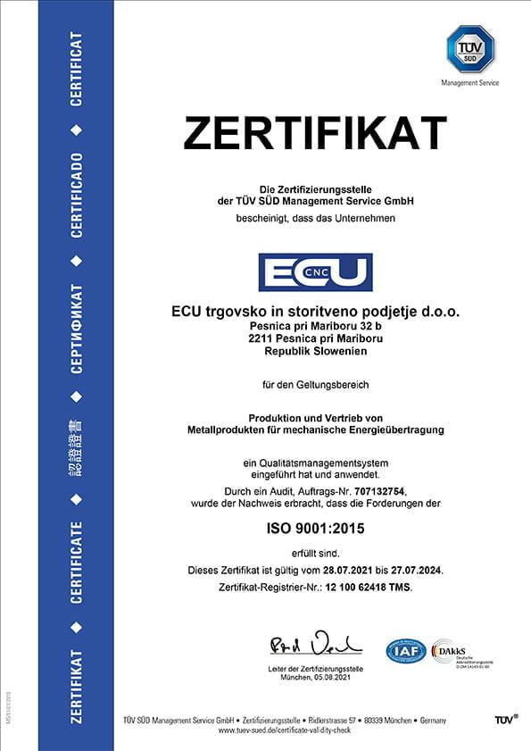 CNC Drehen, CNC Fräsen, ISO Zertifikat